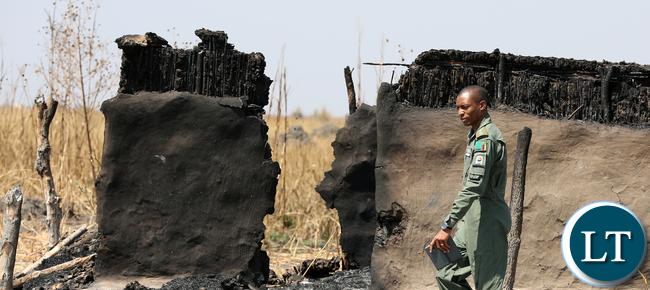 Chikwato Village burned - ZAF Pilot Views