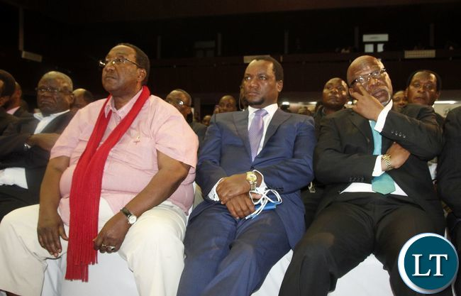 GBM , Miles Sampa and Nevers Mumba in the audience