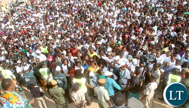 President Lungu addresses a rally in Masaiti on Copperbelt on Tuesday, August 9,2016-Pictures by THOMAS NSAMA