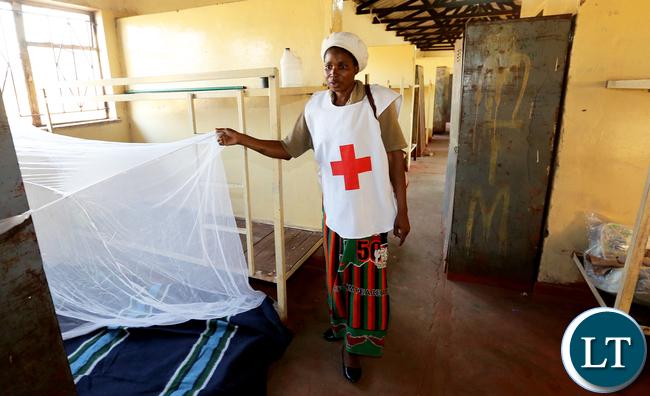 Redcross at Namwala Victims camped at Secondary School