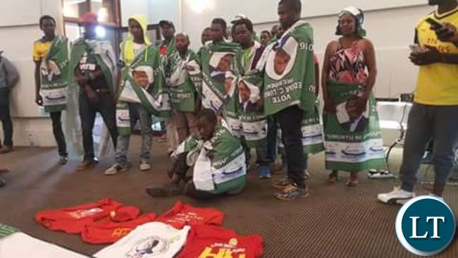 Some of the UPND members who defected to the PF