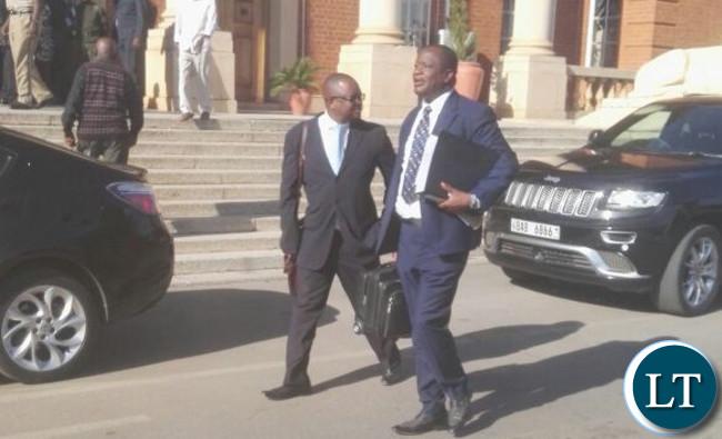 UPND lawyer Jackie Mwiimbu leaving court