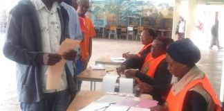 Voters in Kabwe have started casting their votes in this year's general elections at Kabwe School of Technology as can be seen above. Picture by SUNDAY BWALYA / ZANIS