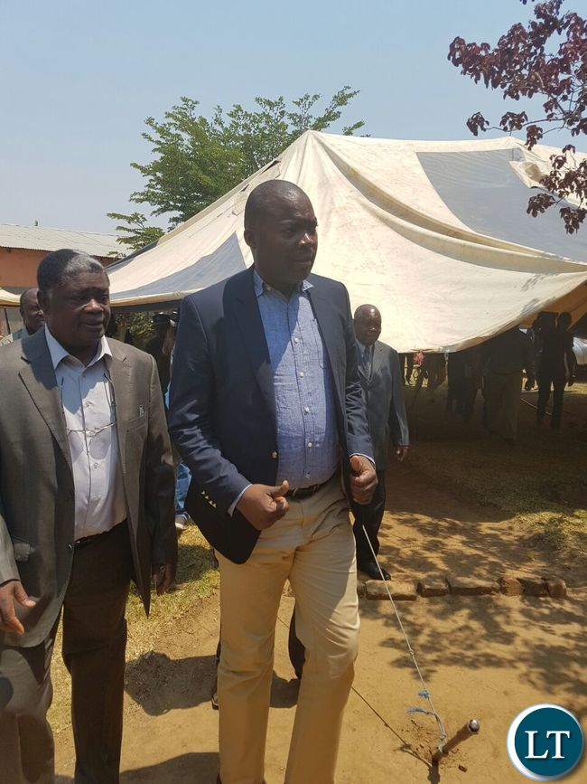 Copperbelt Minister Bowman Lusambo arrives for a the Lamba traditional ceremony