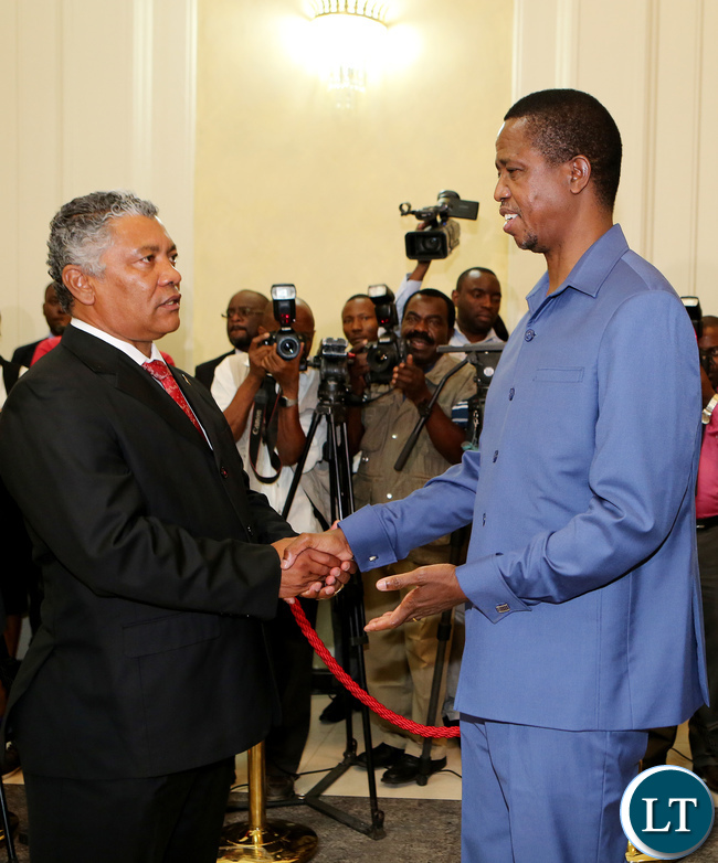 Given Lubinda Minister of Justice