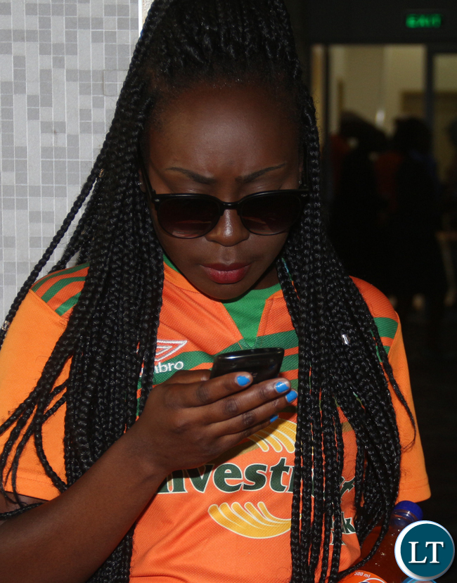 One of the ZESCO United Supporters