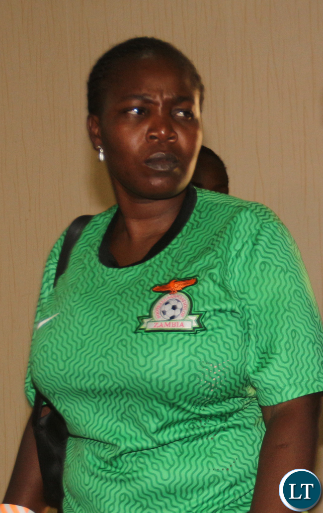 ZESCO Supporter in national team colours