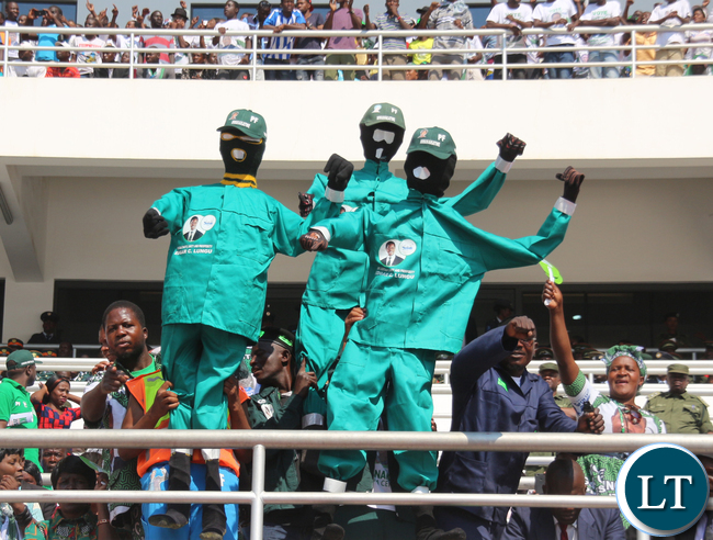 PF Supporters at the stadium