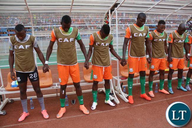 ZESCO Players at the Bench