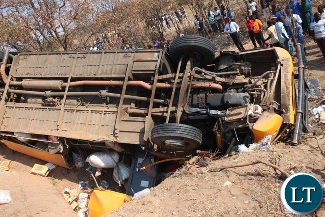 Scene of the Serenje accident