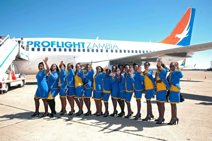 proflight-zambia-staff-welcome-the-arrival-of-airlines-737-200-aircraft-in-lusaka