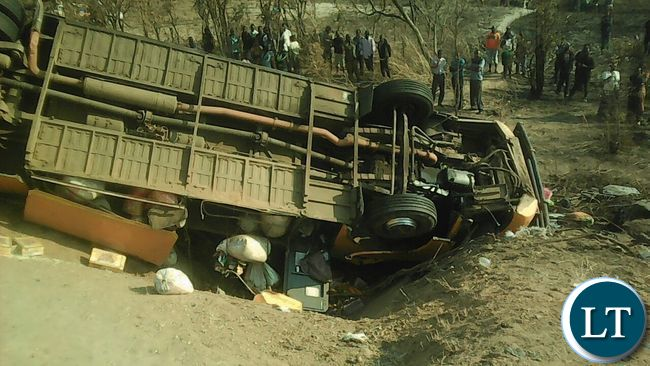 The Power Tools bus which over turned