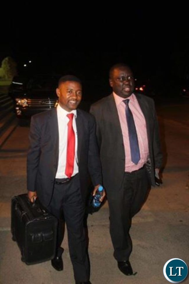 UPND Lawyers Leaving the Court