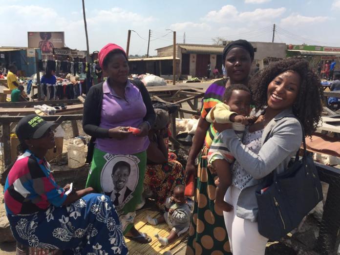 zanji with some women in Bauleni