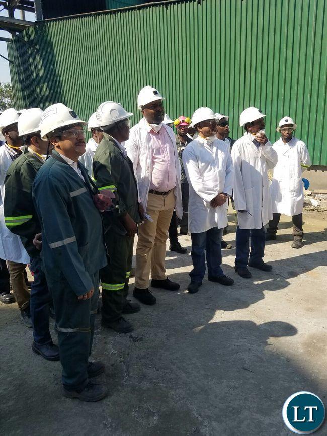 Copperbelt Minister Bowman Lusambo visits KCM Smelter Plant
