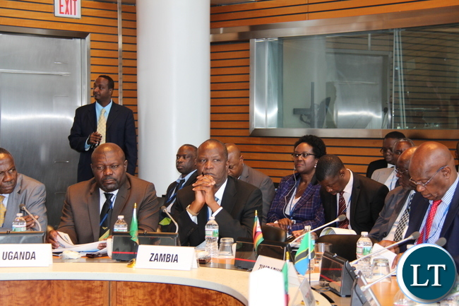 Hon. Mulusa and Hon Mutati during the World Bank Africa Group One Constituency meeting in Washington DC