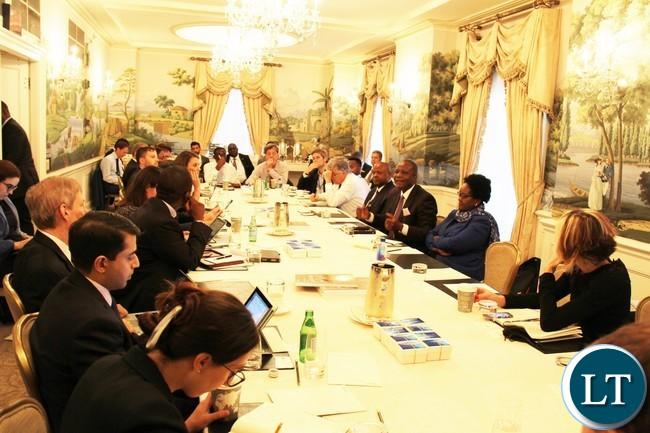 Investors listening to Hon. Mutati at Hay Adams Hotel in Washington DC