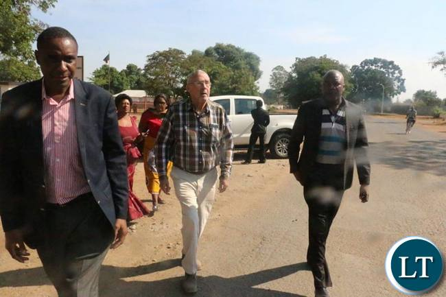 UPND MP Ephraim Belemu, Dr Scott and Douglas Siakalima arriving to visit HH and GBM today