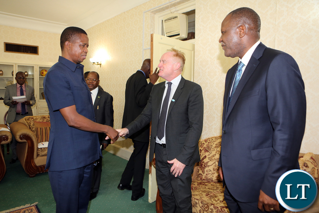 Zambia Sugar Delegation lead by Mr John Beson meets President Lungu at Statehouse