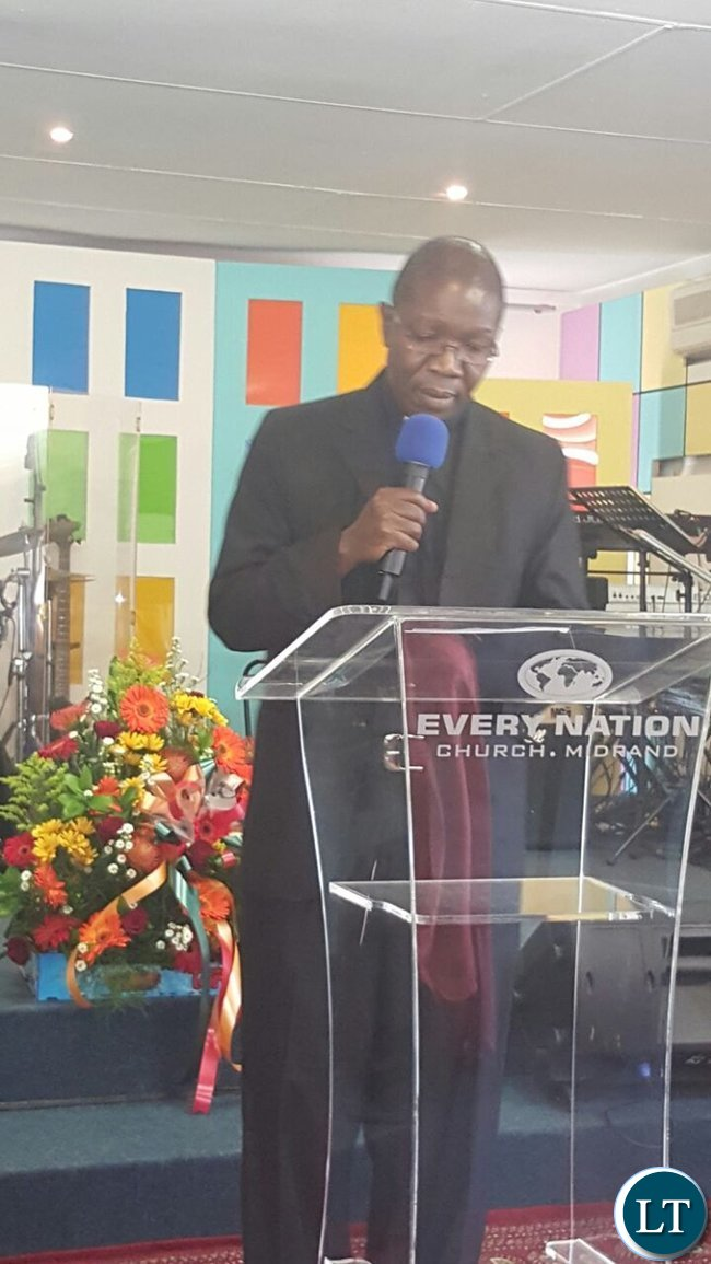 Father Harrison Mulenga of Pretoria conducting the prayer session