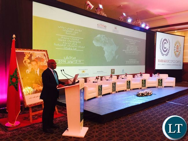 DR. NEVERS MUMBA - GUEST SPEAKER AT 2016 CLIMATE CHANGE CONFERENCE