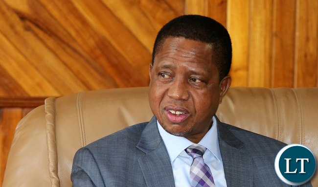 President Edgar Lungu at Mulungushi Conference Centre