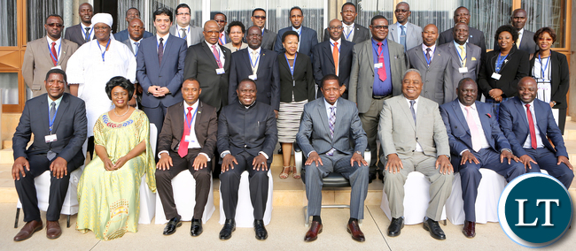 President Edgar Lungu with African union peace and Security Council Meeting in Lusaka