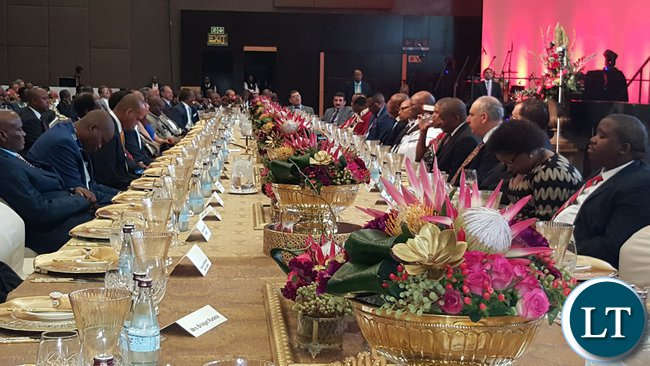 The high table at the 2016 ARM Broad-based Economic Empowerment (BBEE) Trust and Motsepe Foundation meeting in Sandton, Johannesburg on 22nd November, 2016.