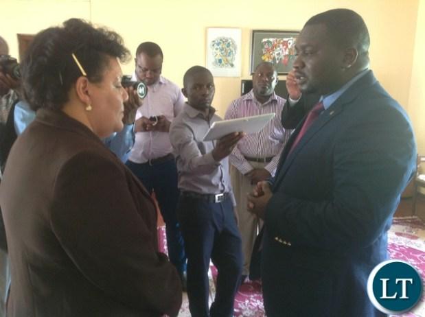 Mr Nakacinda signing the book of condolences at the Cuban embassy