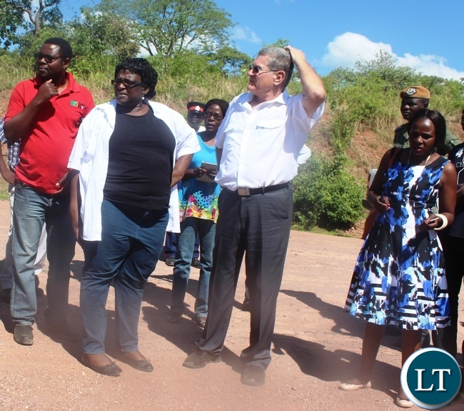 From (left) Central Province planning unit chief planner Gabriel Mpongwe, Provincial PS Daisy Ng'ambi, Radixus PTY Ltd Chief of operations Eugene Labuschagne and Itezhi-Tezhi district administrative officer (DAO)Akatama Malikana looking on the proposed land meant for the construction of a modern Airport which is expected to promote tourism and agricultural activities in the area