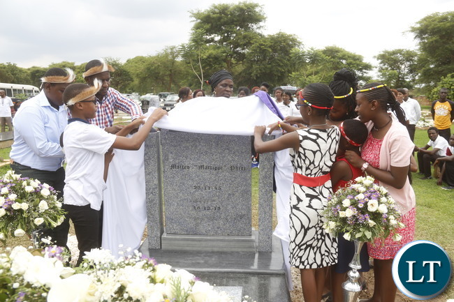 "The Radio 5 FM founder and CEO late Mateo Johnson ""Matippi"" Phiri was remembered this week. The family gathered for a church service at Kabwata Good Shepherd Roman Catholic followed by unveiling of a tombstone at the Lusaka Memorial Park: Picture by Jean Mandela"
