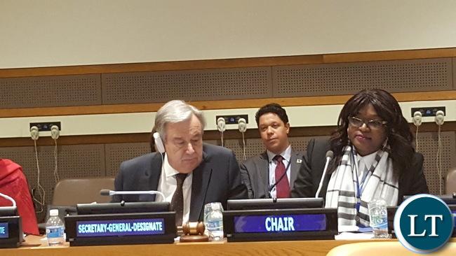 UN Sg-designate, Mwaba Kasese-Bota