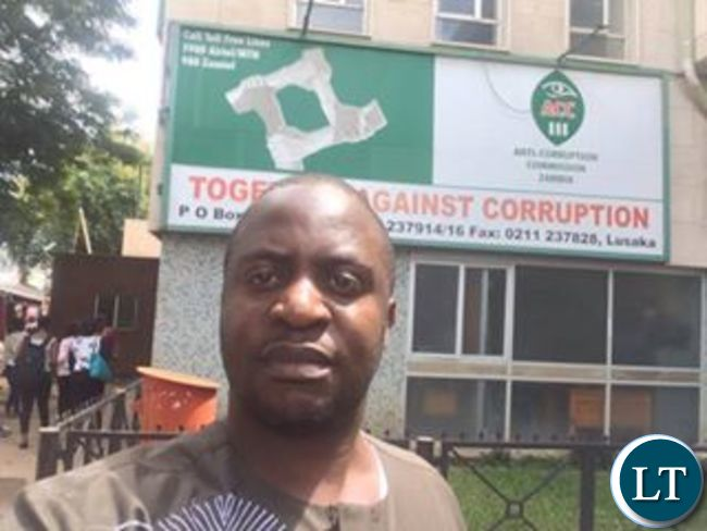 Dr Savior Chishimba after leaving the ACC Headquarters