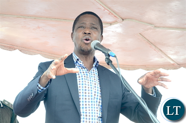 President Lungu speaks on arrival at South Downs Airport in Kalulushi on Thursday, Jan 5,2016-Pictures by THOMAS NSAMA