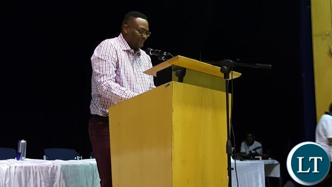 Zambia's High Commissioner to South Africa, His Excellency Mr. Emmanuel Mwamba speaking at the Zambia Association in South Africa annual general meeting in Kempton Park, South Africa on 28th January, 2017