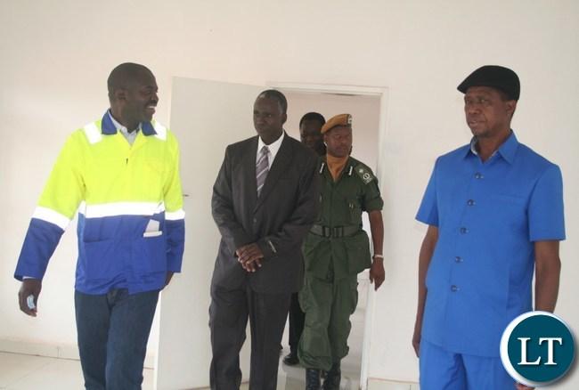 President Lungu inspecting newly built provincial lab