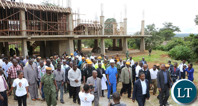 President Lungu tour Police Provincial HQ in Solwezi Underconstruction
