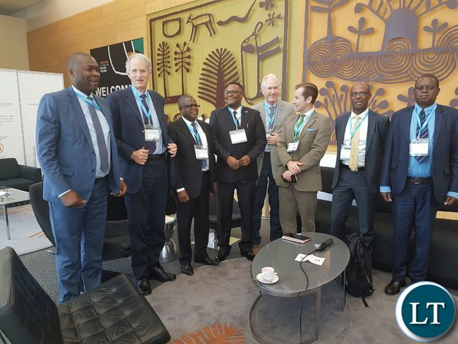 The FQM team after meeting the Zambian delegation at the Mining Indaba