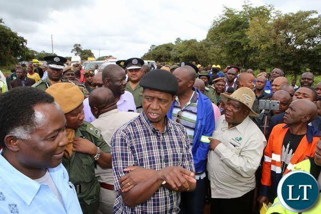 President Lungu inspects SOLWEZI Chingola road project