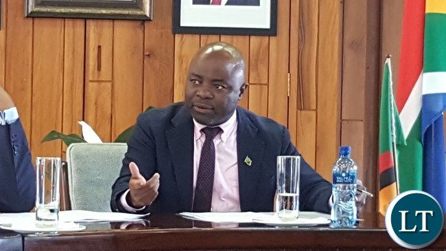 Home Affairs Minister, Mr. Stephen Kampyongo stresses a point when he addressed staff at the Zambian High Commission in Pretoria on 2nd February, 2017