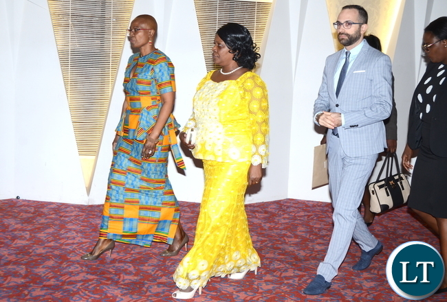 FIrst Lady Esther Lungu with Chilufya Mwaba Phiri