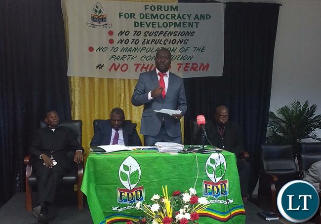 Save FDD committee national coordinator Lawrence Mwelwa