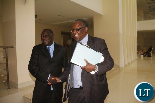 Former FAZ President Teddy Mulonga leaving Government Complex.