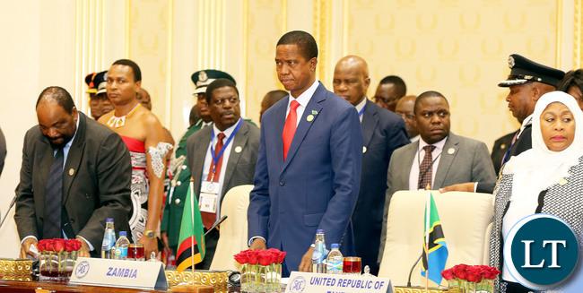 President Edgar Lungu at the SADC Summit