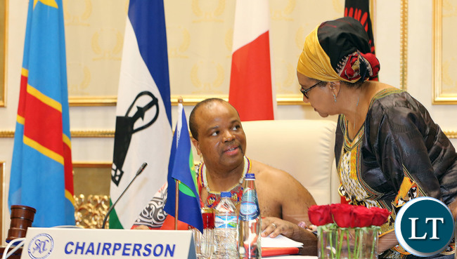 SADC Chairman His Majesty King Mswati 111at the Opening Session of SADC Summit
