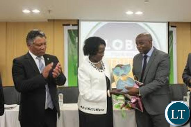 William Chilufya with Vice President Inonge Wina and Justice Minister Given Lubinda