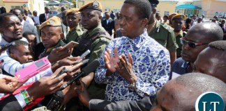 President Lungu Briefs the Press at City Airport