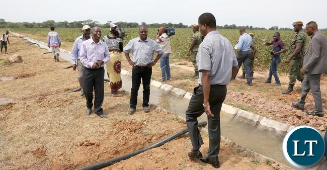 President Lungu Tour Nzenga Irrigation Project