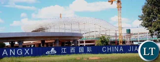 New Terminal Building at Kenneth Kaunda International Airport under construction has reached advanced stage at 40% and the construction is done by China Jianxi