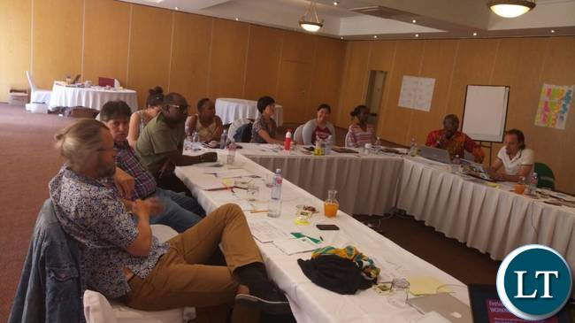 Delegates attending the ongoing Hivos Southern Africa Hub Zambia Sustainable Diets for All (SD4ALL) meeting in Lusaka.